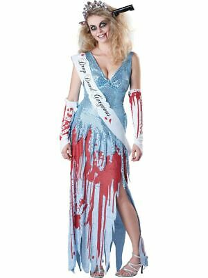 Drop Dead Gorgeous Prom Queen Halloween Fancy Dress Costume Adult Womens Small