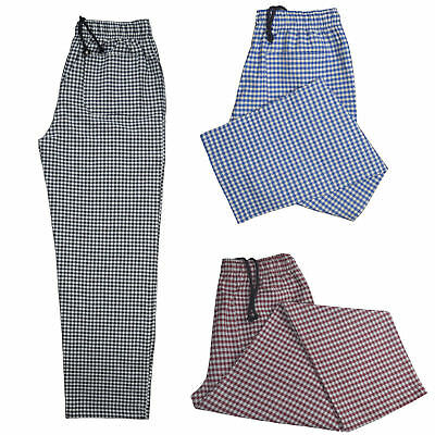 Chef Trousers Excellent Quality Unisex 3 Pocket Elasticated Chef Check Trousers