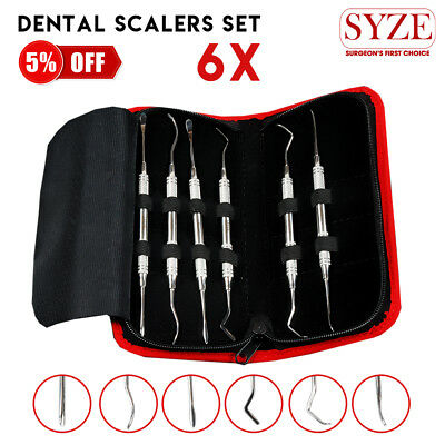 Dental Orthodontic Implant Scalers Kit Double Ended Examination Periodontal Tool