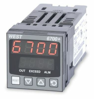 West Instruments P6700 PID Temperature Controller, 48 x 48 (1/16 DIN)mm, 1 Outpu