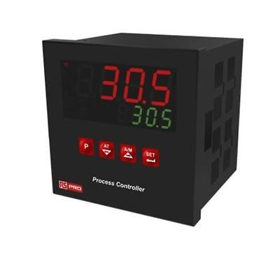 RS Pro 1/4 DIN Rail PID Temperature Controller, 96 x 96mm, 3 Output Relay, SSR,