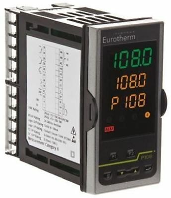 Eurotherm P108 PID Temperature Controller, 48 x 96mm, 3 Output Logic, Relay, 24