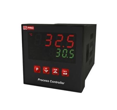 RS Pro 1/8 DIN Rail PID Temperature Controller, 72 x 72mm, 3 Output Relay, SSR,