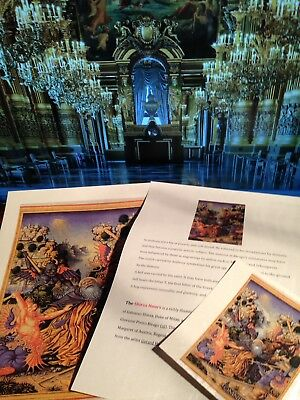 Illuminated Manuscript Sforza Hours ST ANTHONY - GIFT COLLECTION NEW