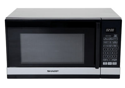 NEW Sharp R240YS 800W Black/Silver Compact Microwave