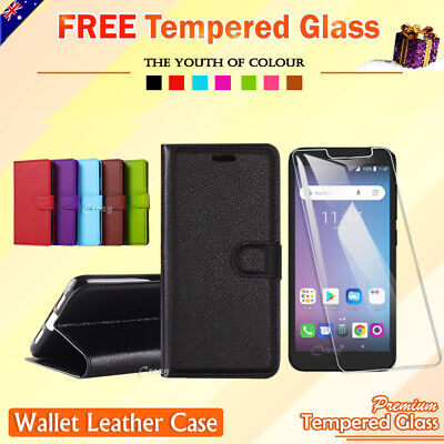 Telstra Essential Plus Wallet Leather Flip Case Cover + FREE Screen Protector