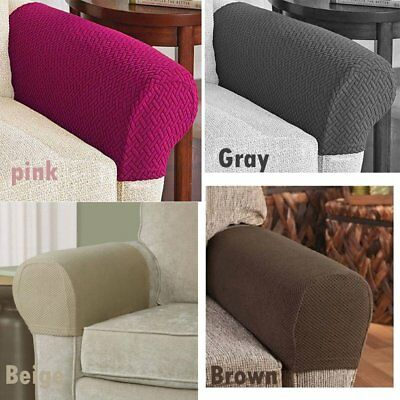 Armrest Covers Stretchy 2 PCS Set Chair or Sofa Arm Protectors Stretch to Fit BT