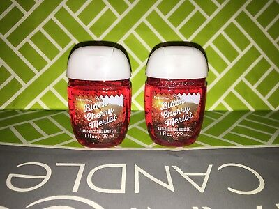 2x Bath & Body Works Anti Bacterial Hand Gel RARE Scent Black Cherry Merlot