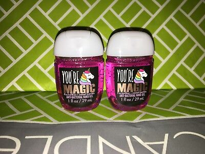 You're Magic Unicorn 2x Bath & Body Works Anti Bacterial Hand Gel RARE Scent