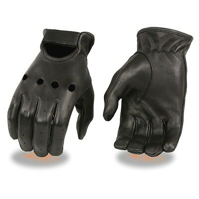 Milwaukee Leather Men's Deerskin Leather Unlined Driving Gloves **SH868
