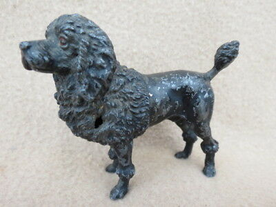 Antique Cold Painted Spelter Poodle Figure