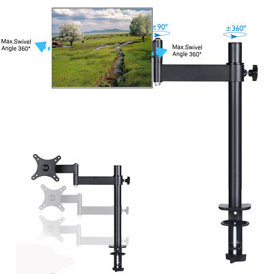 10- 30 inch Single Computer Monitor TV Screen Desk Mount Arm Stand Vesa 75/100