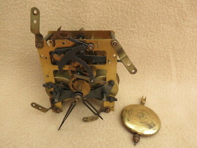 Vintage German Kienzle Striking Clock Movement Pendulum And Hands