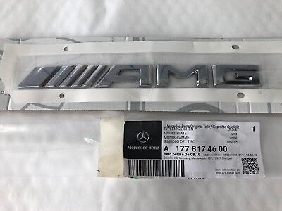 Genuine Mercedes-Benz W177 A-Class AMG Boot Lid Decal Badge A1778174600 NEW