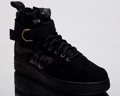 best website 29aa5 718a8 NIKE SF AIR Force 1 Mid Men Lifestyle Shoes Black Last size 7 US 917753-008