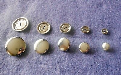 SELF COVER BUTTONS  for SIZES:11mm,15mm,19mm,23mm,29mm.(Optional Tool available)