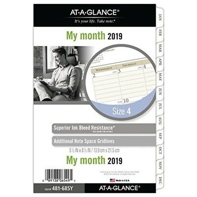 AT-A-GLANCE Day Runner Monthly Planner Refill, January 2019 - December 2019