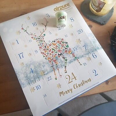 Air Pure Scented Luxury Candle Advent Calendar  Reindeer Stag with free Yankee