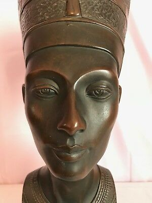 "Large Vintage Queen Nefertiti Bust Rare Museum Quality 20"" High"