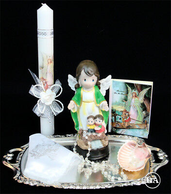 Baptism/Christening Candle Box Gift Set Guardian Angel Missal in Spanish