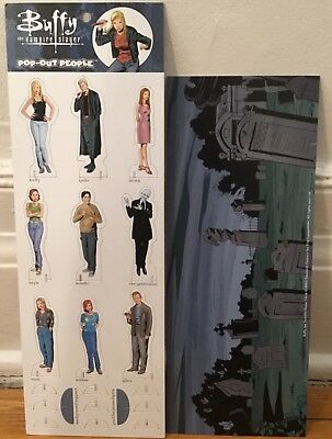 BUFFY the VAMPIRE SLAYER POP-OUT PEOPLE CARDBOARD 2001 NEW