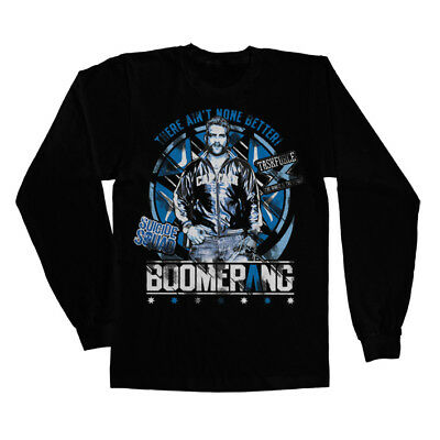Official Licensed Suicide Squad - Boomerang Long Sleeve T-Shirt S-XXL Black