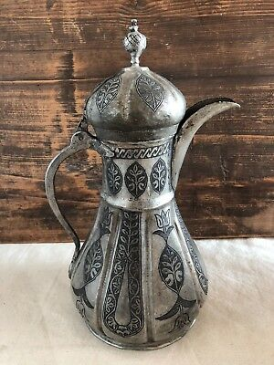 Arabic  Ottoman Islamic Copper Coffee Pot special hammered antiquate