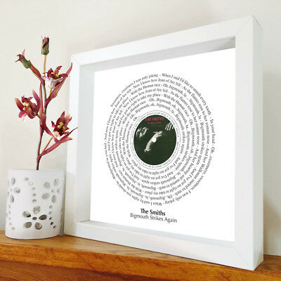 The Smiths - Bigmouth Strikes Again - framed song lyrics - Morrissey - artwork