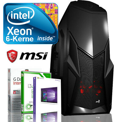 4K GAMING PC INTEL Xeon wie i7 6x3.33GHz 8GB 250GB SSD RX460 Windows 10 Computer