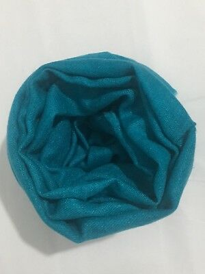 100% Natural Handmade Cashmere  From Nepal Teal Scarf Shawl Wrap Soft,warm Gift