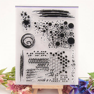 Silicone Transparent Stamp Clear Cling Seal Scrapbook DIY Embossing Album Decor_