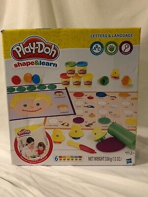 Hasbro Play-Doh Shape & Learn Letters & Language New(Box has damage)