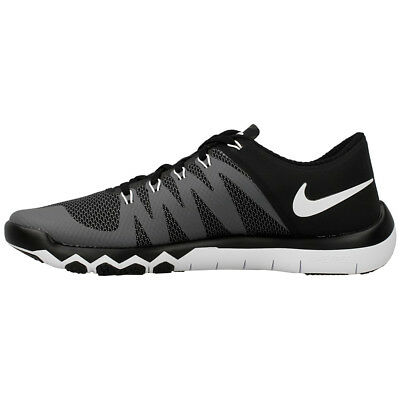 Nike Free Trainer 5.0 V6 Training Shoes Black Gray White 719922-010 Men s  NEW ae9f3bb82396