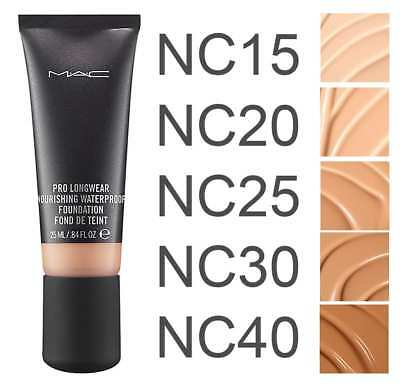 MAC Pro Longwear Nourishing Waterproof foundation 25ml VARIOUS Shades. Brand NEW