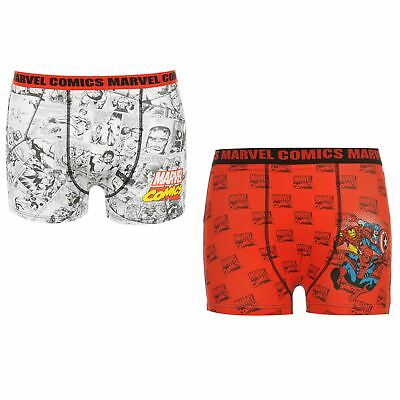 Marvel Comics Avengers Boxer Shorts Junior Boys Underwear Pants