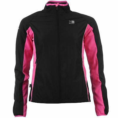 Karrimor Running Jacket Womens Black/Pink Run Jogging Track Top Sportswear