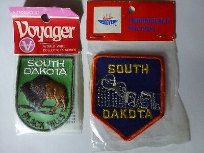 State of South Dakota Assorted Patches Set of 2 NEW