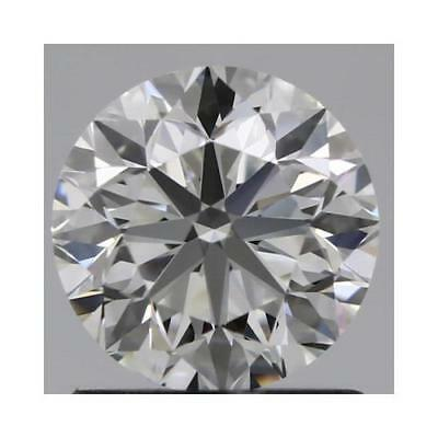 Charles and Colvard 6.5mm Round Forever One DEF Hearts & Arrows Moissanite wCard