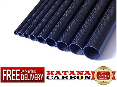 R3 5x 3mm OD x 800mm Pultruded Carbon Fibre Rods