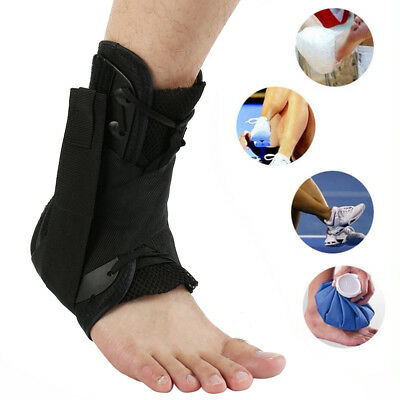 Quality Lace Up Ankle Support Stabilizer Compression Brace Protector 000