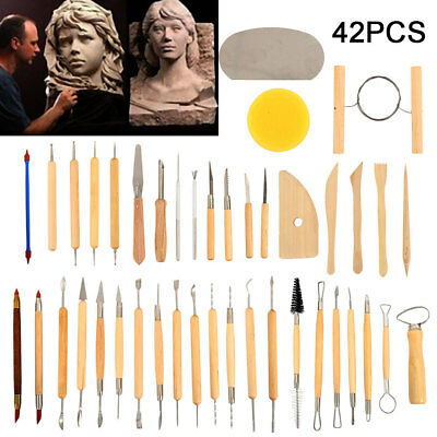 42xCarvers Clay Sculpting Carving Pottery Tools Polymer Modeling DIY Sculpture 0