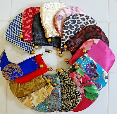 """20 Pcs Silk Brocade Jewelry Pouch Bag, Drawstring Coin Purse, Gift BAG 4x4"""" NEW"""