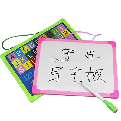 Kids Portable Rewritable Whiteboard Painting Writing Drawing Board MSF