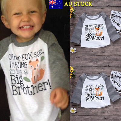 Baby Boys Kids Toddler Infant Summer Tops T Shirt BIG BROTHER Summer Top Clothes