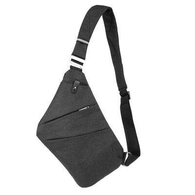 Men Crossbody Sling Bag Waterproof Shoulder Chest Back Pack Anti Theft Sash Bags