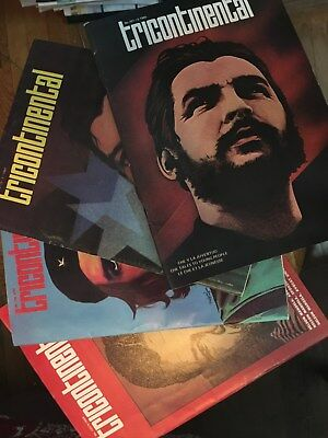 Cuba Tricontinental Magazines--Che Guevara/ Nelson Mandela on covers--1980s