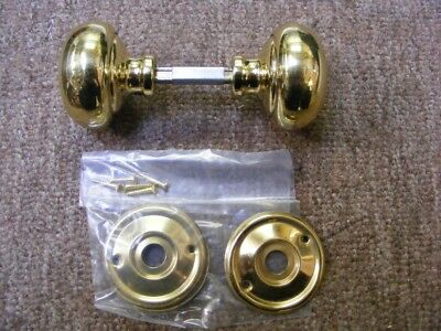 victorian 54mm set smooth polished brass mortice door knobs,suit carpenter 1024