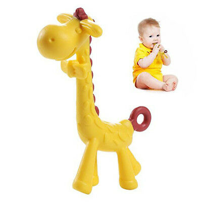 Chew Teething Tooth Care Toddler Silicone Baby Teether Giraffe Toy Food Grade