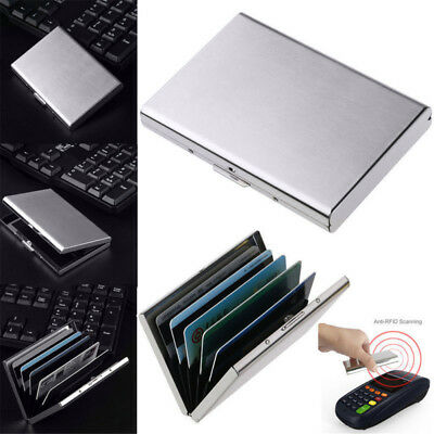 Credit Card ID Holder Case Slim Money Travel Wallet Men Stainless RFID Blocking
