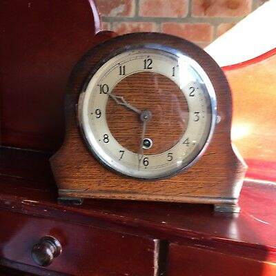 Oak Mantle Clock 14 Day  English Made